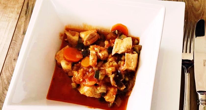 Hähnchen mit Gemüse aus dem Krups Cook 4 Me Wunderkessel.