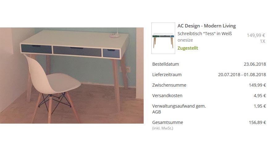 Mein Möbel Schnäppchen von limango - Tisch Tess mit viel Ersparnis