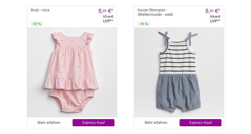 Vente-privee.com Shopping Club - sehr günstige Marken Babykleidung und vieles mehr mit viel Rabatt